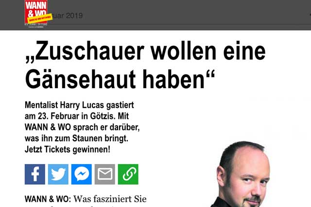 Harry Lucas - Interview Wann & Wo Foto Screenshot
